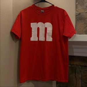 Red M&M's Logo T-Shirt Medium